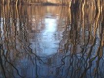 Illinois river reflection. Illinois river sunset night evening reflection stock photo