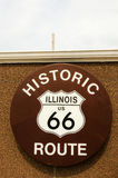 Illinois Route 66 Sign Stock Photo