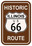 Illinois Route 66 histórico Imagen de archivo libre de regalías