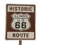 Illinois Route 66 Sign Royalty Free Stock Images