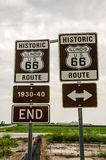 Illinois Route 66 Signs Royalty Free Stock Image
