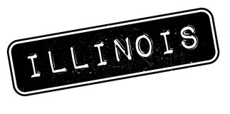 Illinois rubber stämpel Royaltyfria Bilder
