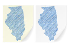 Illinois scribble map Royalty Free Stock Images