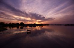 illinois solnedgång Arkivbild