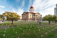 Illinois Stary Stan Capitol Zdjęcia Stock