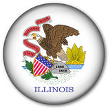 Illinois State Flag Button. Glassy Web Button with the flag of the state of Illinois, USA vector illustration