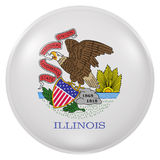 Illinois State flag button. 3d rendering of  Illinois State flag on a button Royalty Free Stock Photography