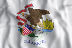 Illinois State flag. 3d rendering of an Illinois State flag Stock Image