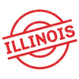 Illinois-Stempel Stockfotografie