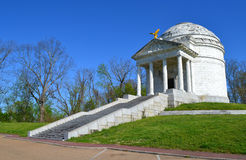 Illinois tempelmonument i Vicksburg Royaltyfria Bilder