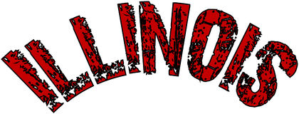 Illinois text sign illustration Stock Images