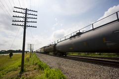 Illinois USA freight train in motion Royalty Free Stock Photography