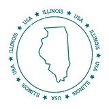 Illinois vector map. Stock Images