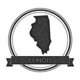 Illinois vector map stamp. Royalty Free Stock Photo