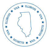 Illinois vector map sticker. Royalty Free Stock Photography