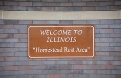 Illinois Welcome Center, Homestead Rest Area stock images