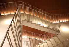 Illiuminated turning staircase Royalty Free Stock Photography