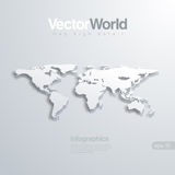 Illlustraion Vektor der Weltkarte 3D. Nützlich für infog Lizenzfreie Stockbilder