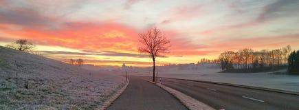 Illnau morgens Lizenzfreies Stockfoto
