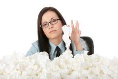 Illnes da mulher de funcionamento Imagem de Stock Royalty Free