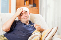 Illness  adult man Stock Image