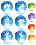 Illness Crystal Icon Set. Isolated on a white background vector illustration