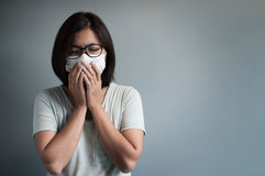 Illness, disease, cold  concepts. Royalty Free Stock Photo