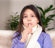 Illness girl Royalty Free Stock Photo