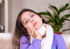 Illness girl Royalty Free Stock Images