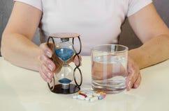 Illness and time Stock Photos