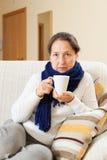 Illness woman Royalty Free Stock Image