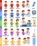 Illnesses And Medication Poster stock illustration