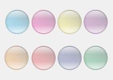 Illstration de los iconos de la burbuja del web Fotos de archivo