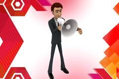 illstration del altavoz del hombre de negocios 3d Imagen de archivo