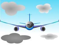 Illstration del plano o del frontal plano de Airbus Foto de archivo
