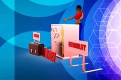 illstration di EMP della donna 3D Immagine Stock Libera da Diritti