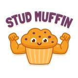 Illsutration del muffin del perno Fotografie Stock Libere da Diritti
