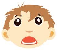 Het gezicht van de jongen Stock Afbeeldingen