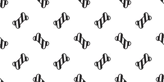 Illu aislado bufanda inconsútil del papel pintado de la repetición del dogo francés de la pata del perro del bastón de caramelo d libre illustration