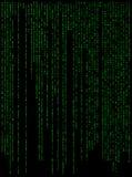 Illu de conception de papier peint de bannière de fond numérique de Matrix bel Images stock