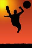 Illu del jugador de fútbol Imagen de archivo