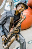 Illumina Art Sculptures, Jazz Blues Saxaphone Player Stock Photos