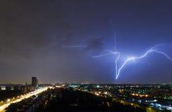 Illuminandosi sopra Mosca Fotografia Stock Libera da Diritti