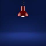 Illuminarsi rosso della lampada Fotografie Stock
