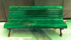 Illuminate Green Bench royalty free stock image