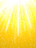 Illuminated. And stars in yellow background Stock Photography