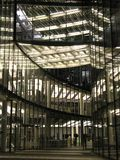 Illuminated. Business building Stock Photo