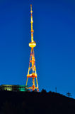 Illuminated antenna, Tibilisi Georgia Royalty Free Stock Photos