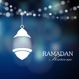 Illuminated arabic lamp, lantern with lights, Ramadan,  Stock Photos