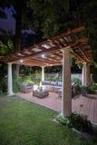 Illuminated back yard Stock Images